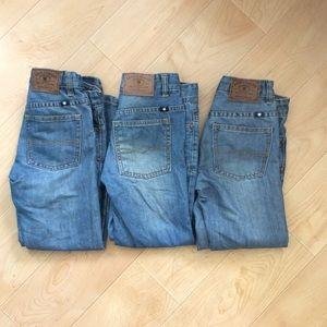 3 Pair LUCKY Brand Kids Jeans Billy Straight siz 8